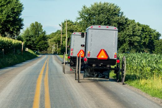 Pennsylvania - Amish traffic in Lancaster County