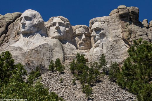 Mount Rushmore - George Washington, Thomas Jefferson, Theodore Roosevelt und Abraham Lincoln
