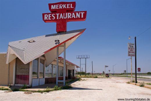 Texas - Merkel Restaurant an der Frontage Road