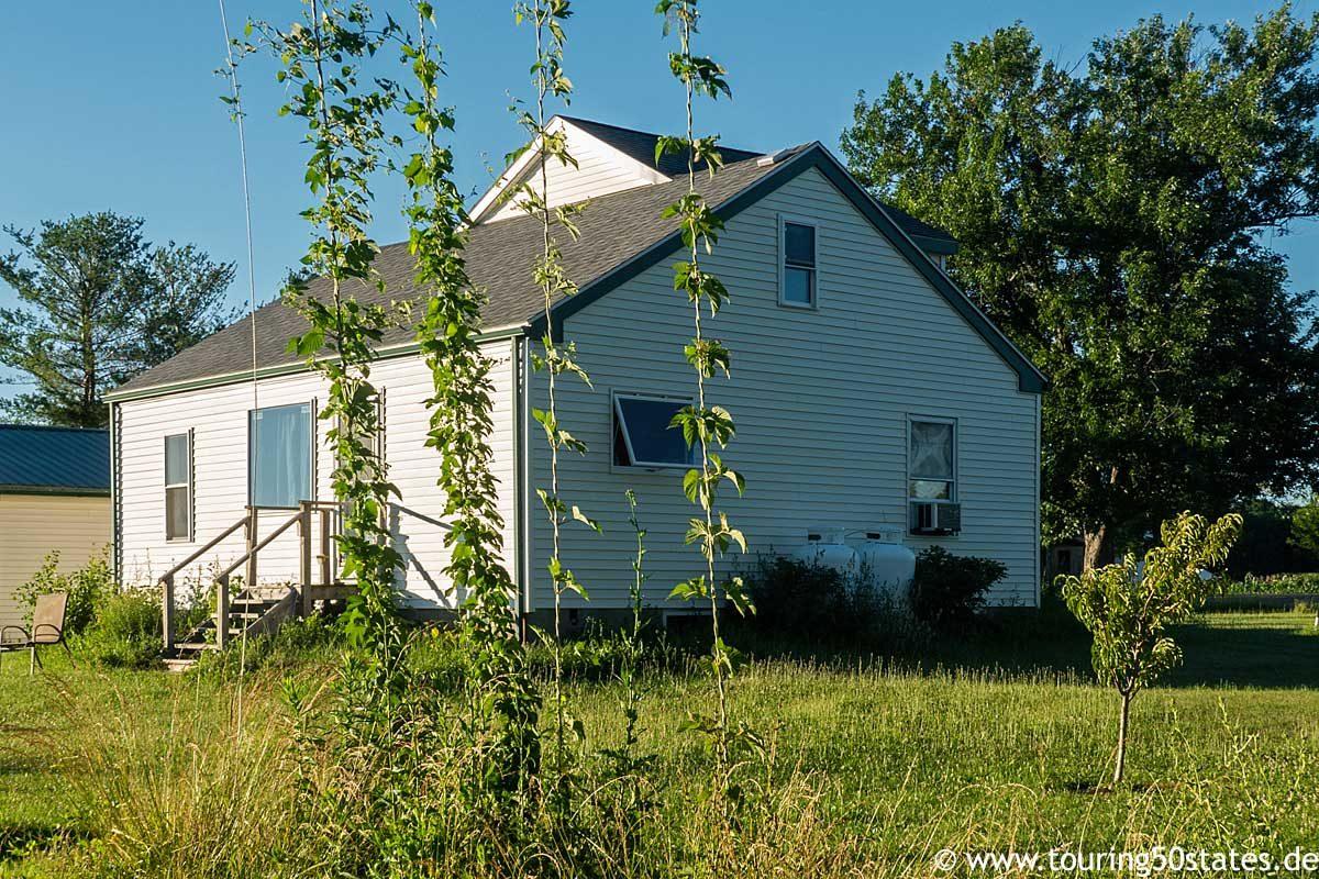 Unser kleines Haus in Ovid, NY, mitten in der Landschaft