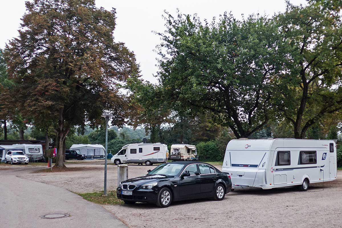 Stellplatz beimDrei-Länder Camping in Neuenburg am Rhein