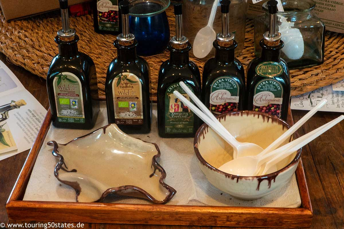 Can Solivera - das Olivenöl am Probiertisch