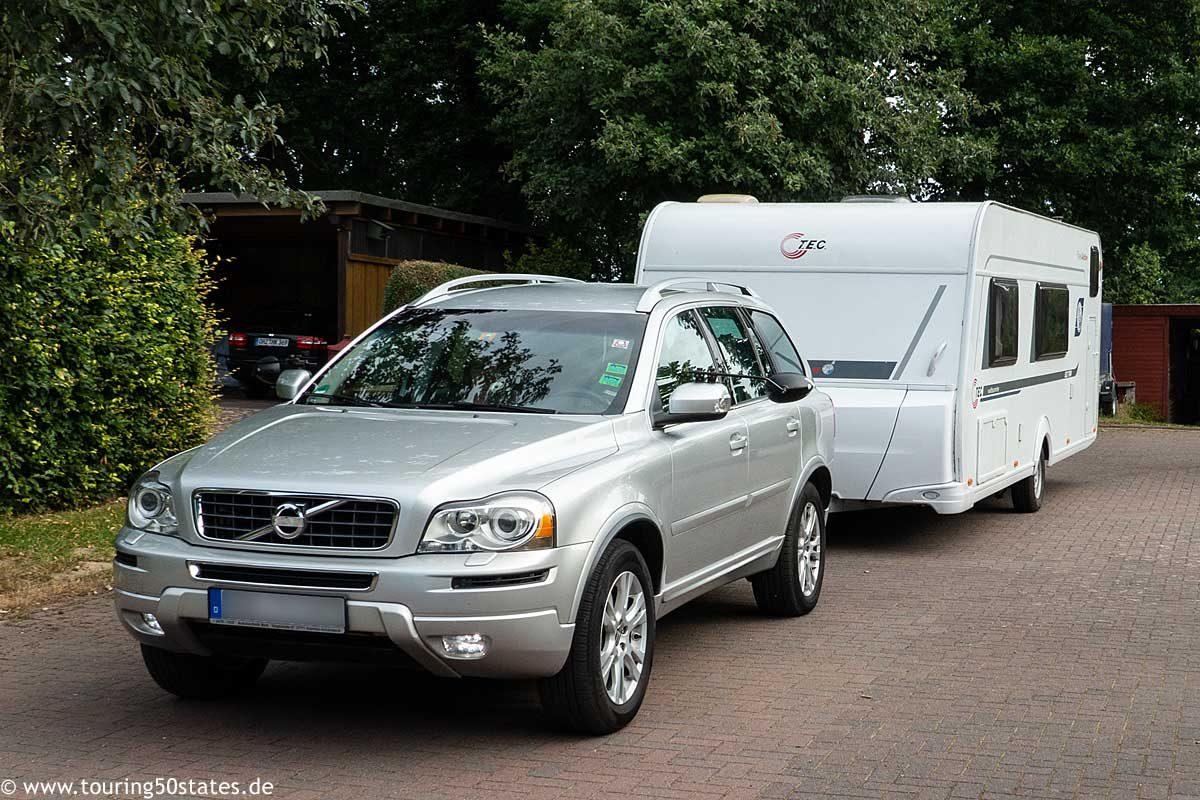 Unser Gespann - ein Volvo XC90 mit TEC Weltbummler 522 TKM