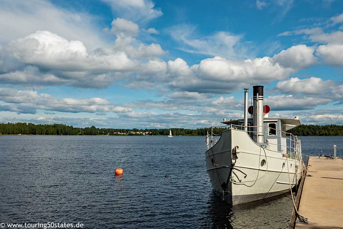 Das Dampfschiff S/S Laxen auf dem Siljansee
