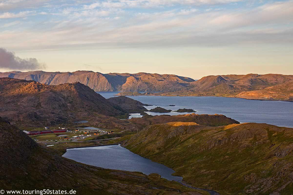 Blick von der E69 auf den Skipsfjord