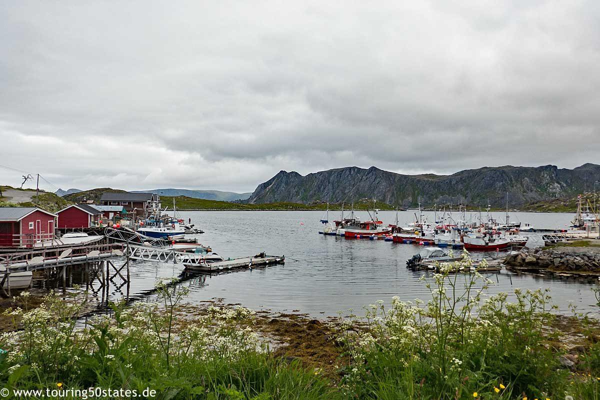 Der Hafen von Gjesvær