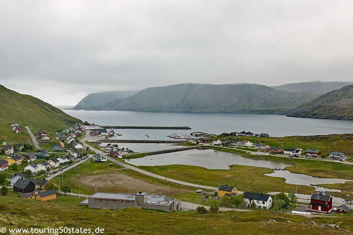 Blick auf Skarsvåg, Magerøya