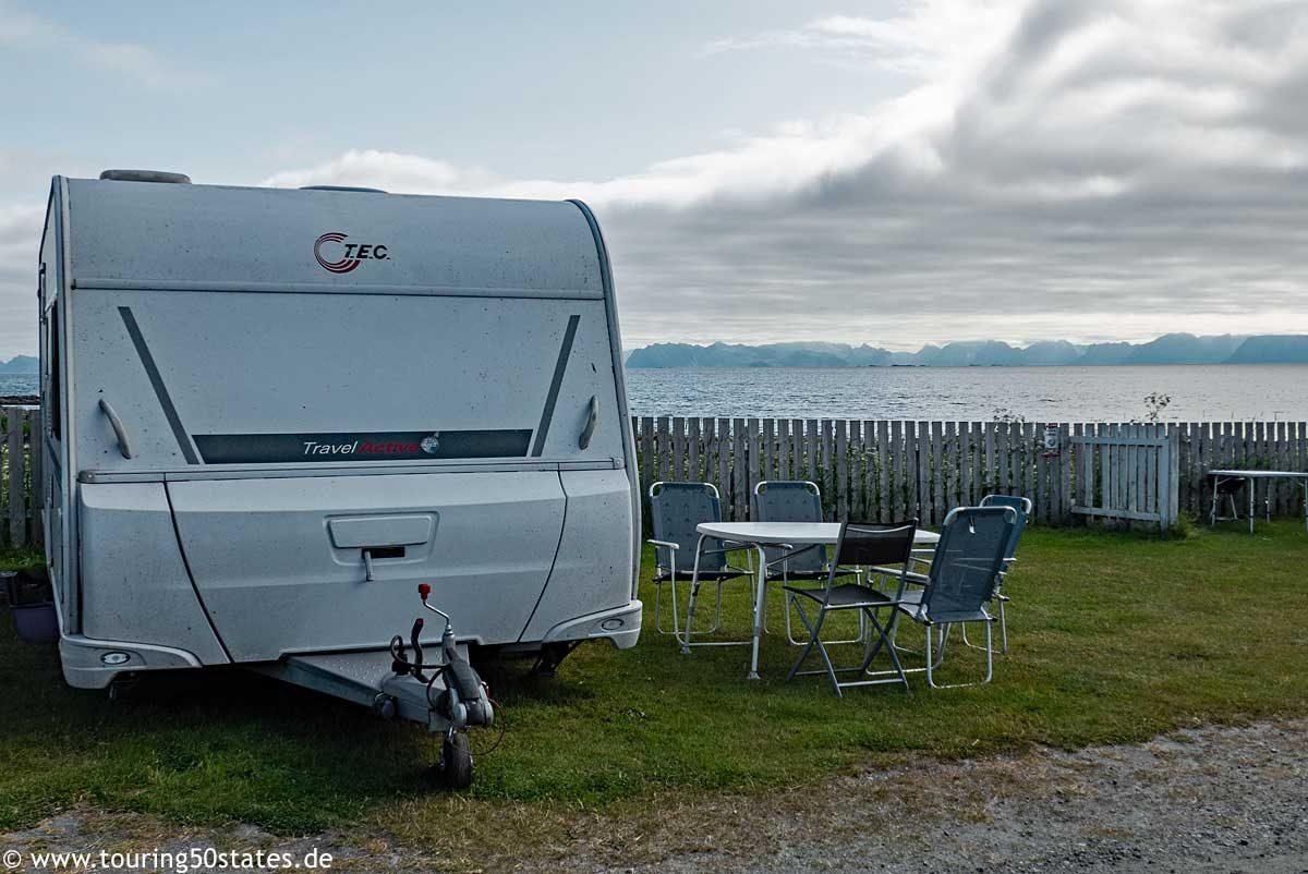 Campingplatz Kvalnesbrygga auf Andøya