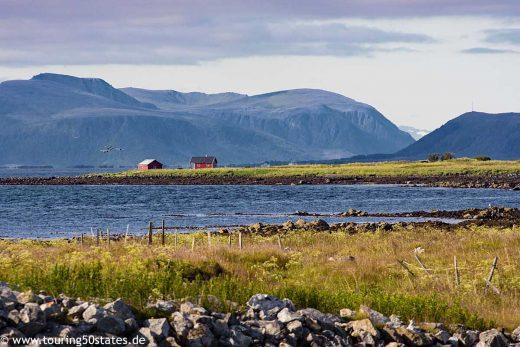 Blick über die Ostküste von Andøya, Vesterålen